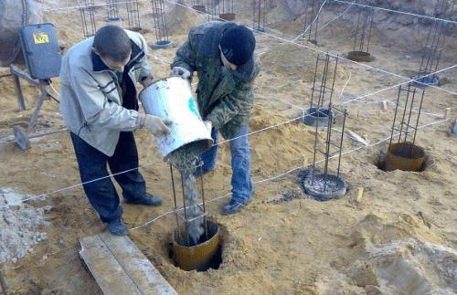 Опалубка для столбчатого фундамента