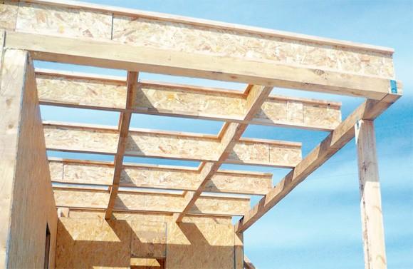 Использование деревянных двутавровых балок при строительстве крыши
