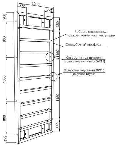 Система опалубки для стен от компании «Крамос»